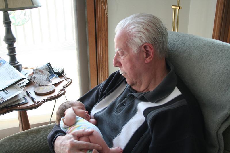 Even Grandpa thinks I'm cute