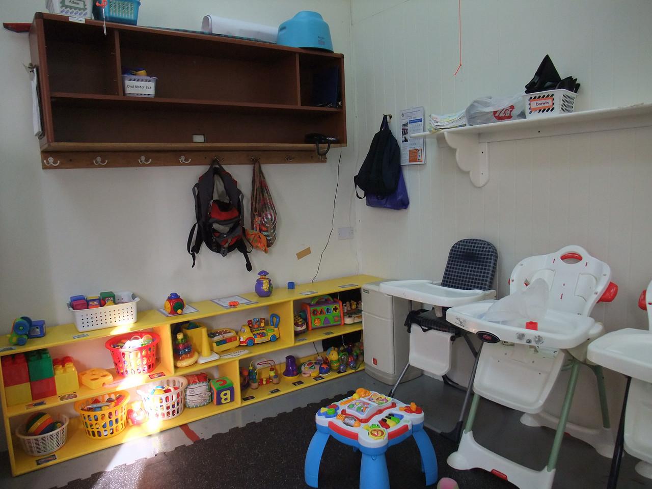 Darwin's daycare room