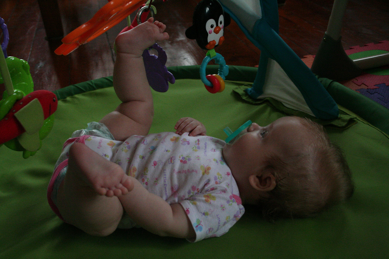 And now there's a cute baby and a foot!