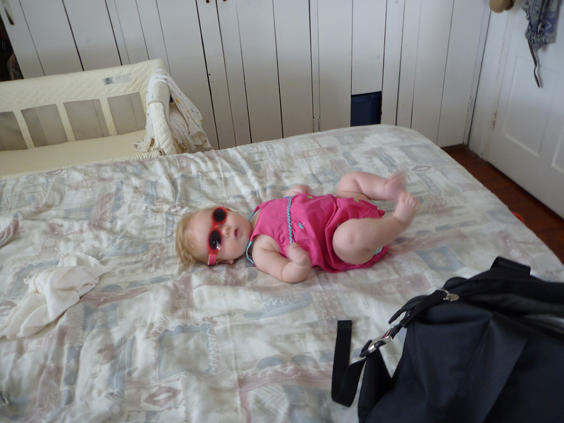 Got my shades, lookin' cute, ready to rock the barbeque!