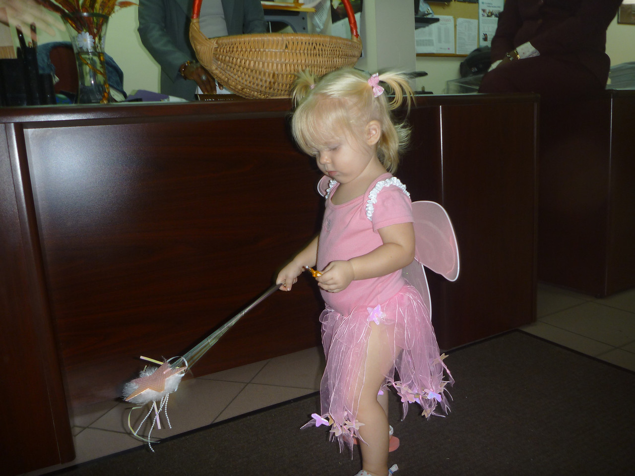 Halloween and trick or treating as a fairy (costume choices are limited in Grenada and we're not very creative)