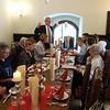 Hier wird der Festtag kulinarisch abgerundet.  Der stolze Vater würdigt in trefflichen Worten die Ereignisse, die Gäste und den Jubilar.