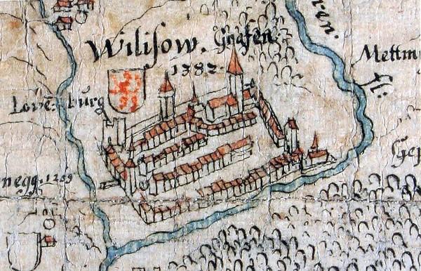 Willisau im 15. Jahrhundert (Die Heilig-Blut-Kapelle beim Obertor).