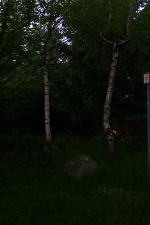 Der Gedenkstein mit der Inschrift: Richtstätte, aufgehoben 1798