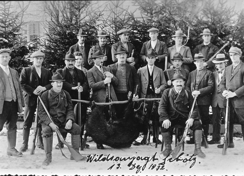 Dias7_19 Wildsaujagd 1934 in Schötz