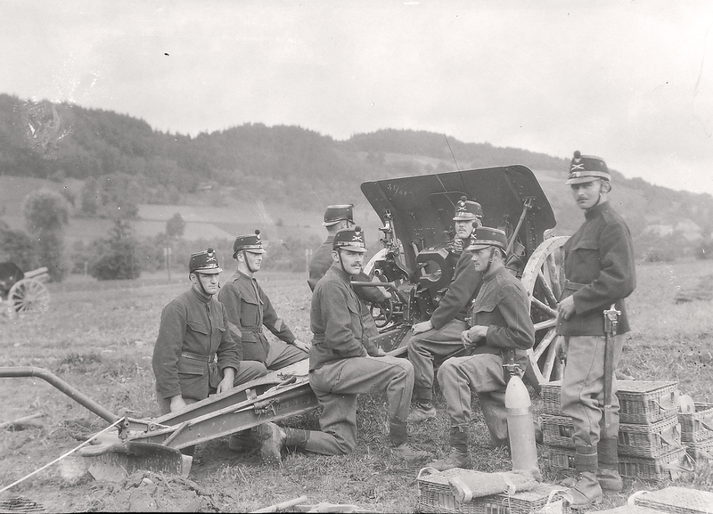 023a Artilleriekanoniere vor Santenberg um 1919