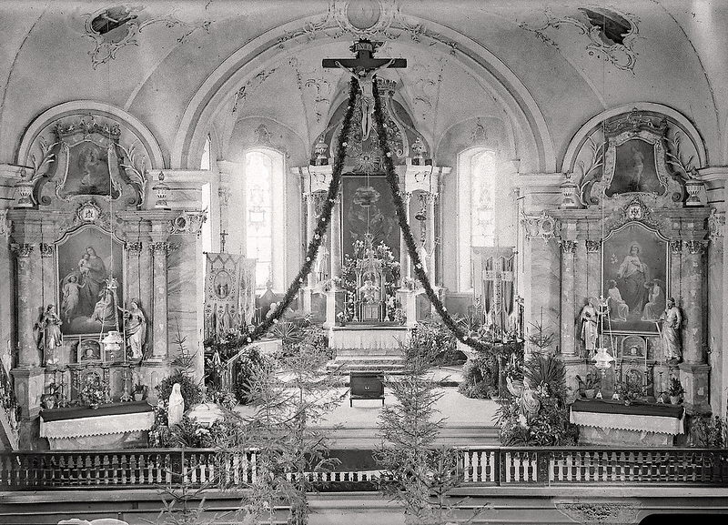 149a Altishofen Kirche geschmückt 1924