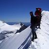 Biancograt die Zweite einen Tag später, im Hintergrund der Zupo und Piz Argient (4.September 2006)