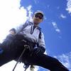 """Böser Blick bei der """"Durchkletterung"""" des großen Eisbruchs am Schlatenkees, Venedigergruppe (25. August 2006)"""