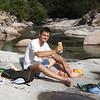 Chile: Relaxen am Gebirgsbach (26. Februar 2006)