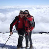 Mit Martina in den chilenischen Anden (15.Februar 2006 am Vulkan Villarica)