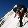 Kurz vor dem wunderschönen Firnteil am Biancograt (3.September 2006)