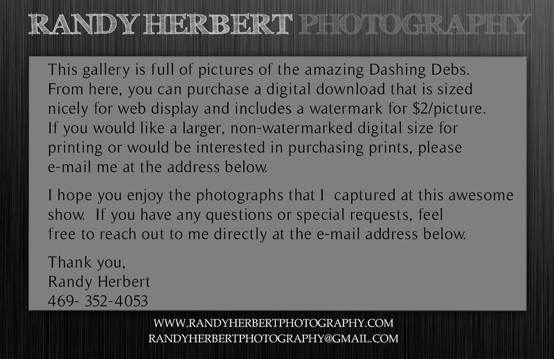 Dashing Debs Gallery Message