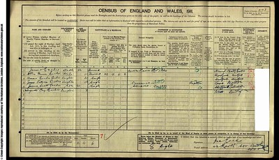 1911 Census for James Eccles