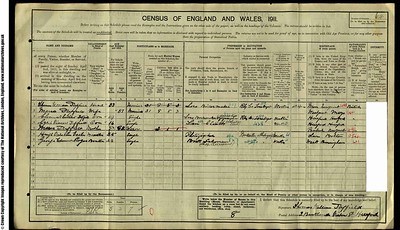 1911 Census for Hugh Eccles