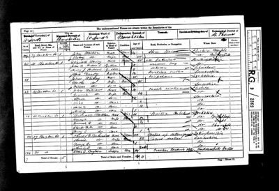 1861 census and the Whitley family.