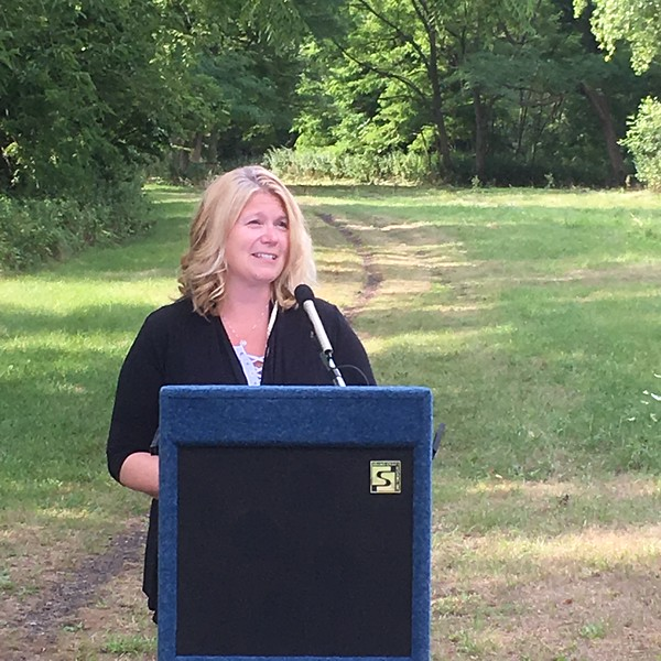 "Jennifer Rodriguez, health director for Livingston County Department of Health, stressed the role that the Greenway can play in promoting good mental health.  ""Getting out and getting physical activity"" are as important for our minds as they are for our physical health, she said."