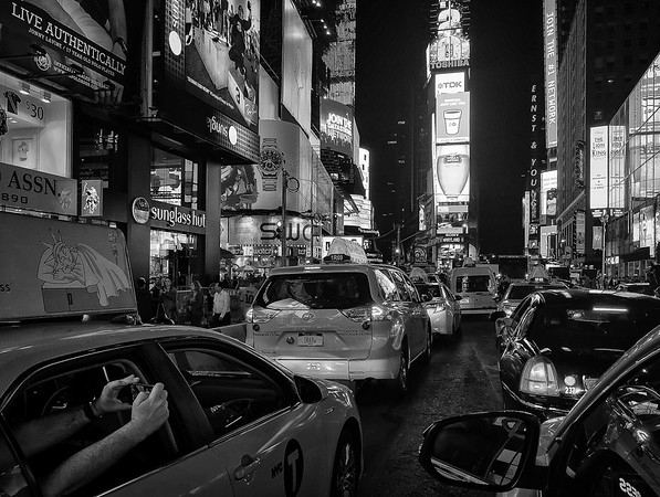 Time Square B&W