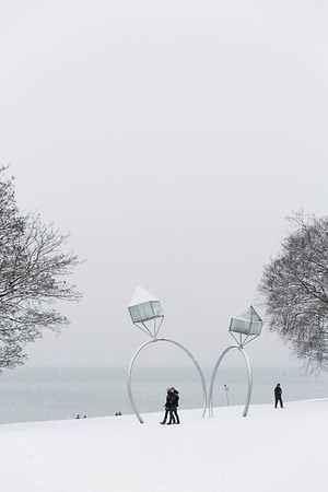 Vancouver under snow
