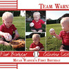 Front of postcard we sent out for Micah's 1st birthday.