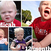 Collage of Micah pictures from July 2009