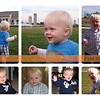 Collage of September 2009 photos of Micah.