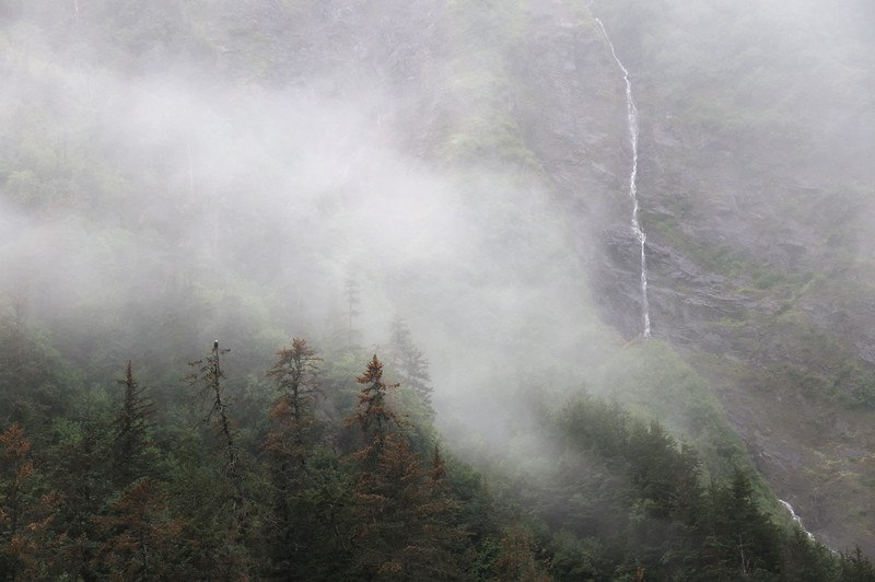 August - Waterfalls into the fog