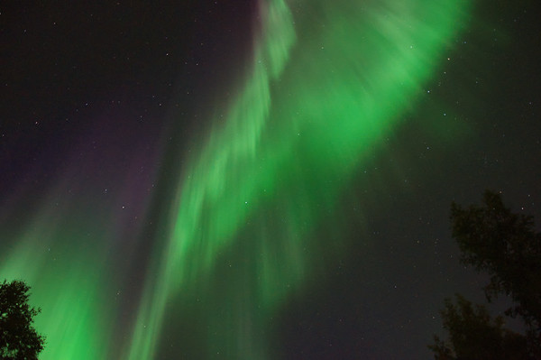 Aurora filling the sky