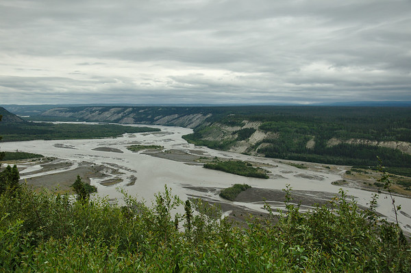 Looking over the Copper River