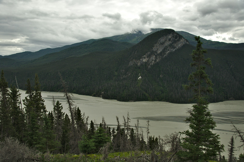 Just outside of Chitina we cross over the Copper River right at the confluence of the Copper and Chitina Rivers.