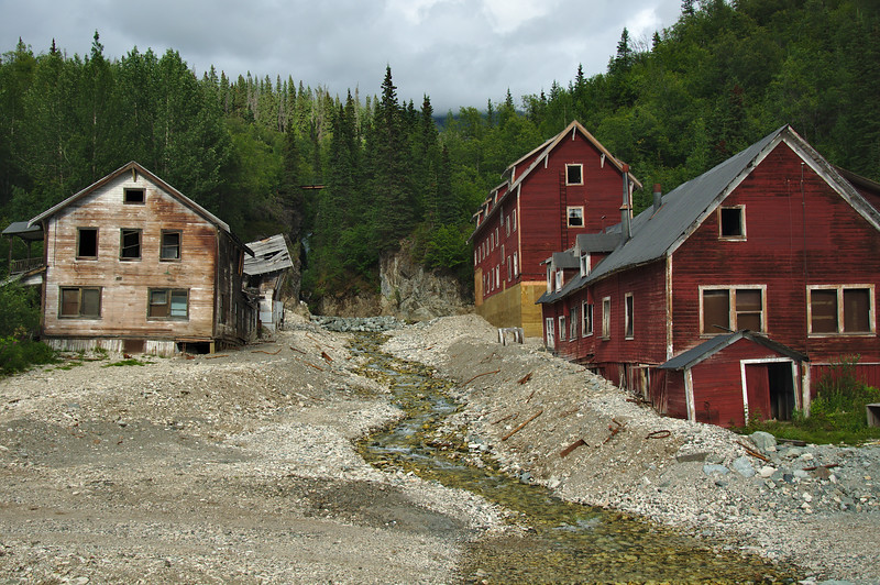 The bunkhouses and hospital.