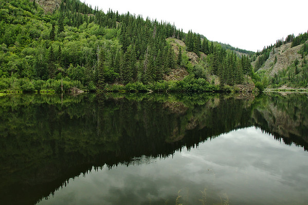 One of the many lakes we pass on the way to Chitina.