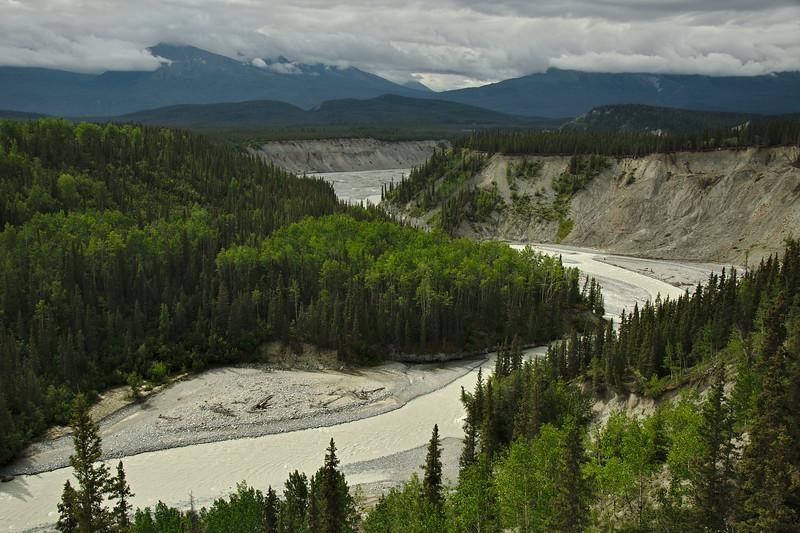 The confluence of the Kuskulana and Chitina Rivers. Wrangell St. Elias NP.