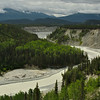 The confluence of the Kuskulana and Chitina Rivers. Wrangell St. Elias NP.