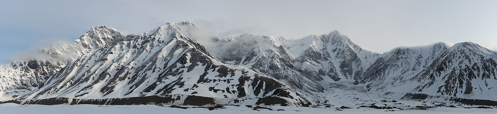 McGinnis Peak (right) in the Alaska Range