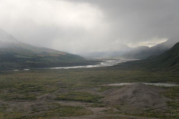 Old surge moraines for the Black Rapids Glacier in the Delta River Valley