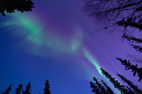 February - Aurora in twilight