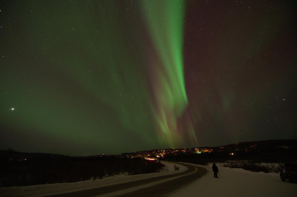 Shooting the aurora