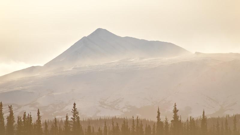 Sunrise in the Central Alaska Range