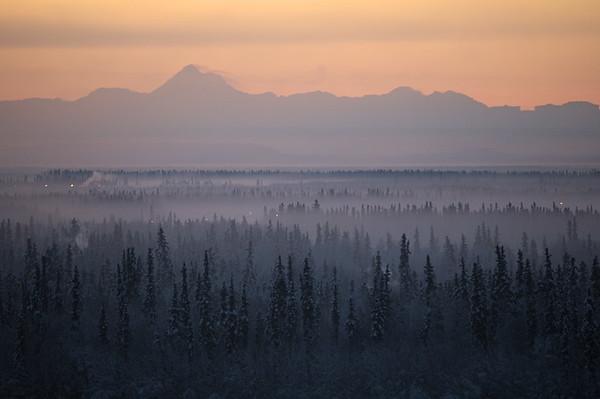 Gorgeous view of the Alaska Range.