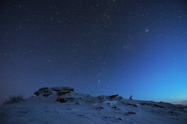 Orion and Pleiades over Murphy Dome