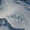 Crevasses in the snow