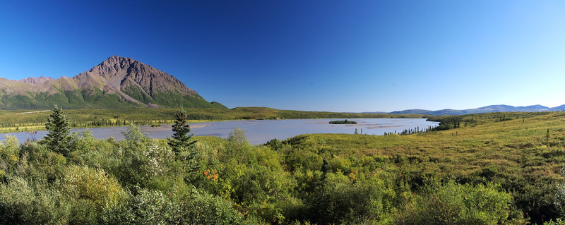 The Susitna River from the Denali Highway looking south.