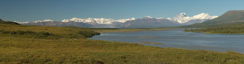 Alaska Range over the Susitna River