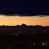 "A gorgeous morning, taken about 1 hour and 45 minutes before sunrise from the front of the Reichardt Building at the University of Alaska Fairbanks. A particularly stunning view of the Alaska Range with tall mountains (left to right) Hayes, Hess, and Deborah.<br /> <br /> Good print size would be 5""x20"" or 6""x24"" - requires crop on top or bottom."