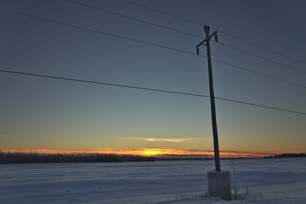 Sunset from the Chena River flood control