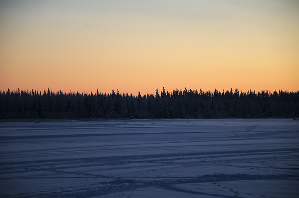 Looking over the Tanana River just after sunset.