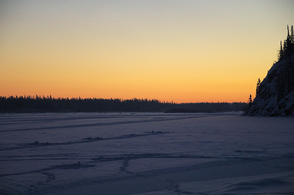 Looking over the Tanana River just after sunset. Off Chena Pump Road.
