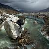 Glacier streams are cool . . . or cold