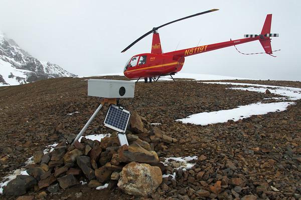 Camera box up above the marginal Aurora Lake.